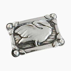 Silver Brooch #213 with Swan from Georg Jensen