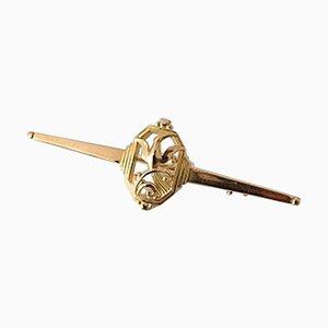 18 Karat Gold #206 Brooch from Georg Jensen