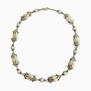Sterling Silver No. 15 Necklace with Silver Stones from Georg Jensen