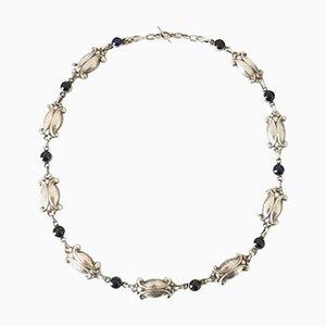 Sterling Silber Nr. 15 Halskette mit Blauen Steinen von Georg Jensen