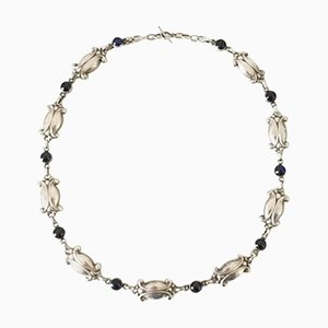 Sterling Silver No. 15 Necklace with Blue Stones from Georg Jensen