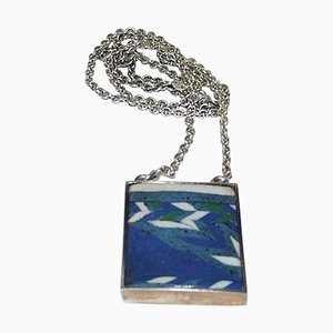 Sterling Silver Pendant with Large Stone from Mogens Bjorn-Andersen