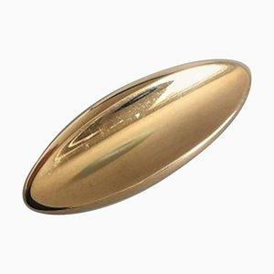 14 Karat Gold No. 102 Brooch by Hans Hansen