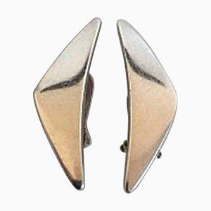 Boucles d'Oreilles No. 432 en Argent Sterling par Hans Hansen