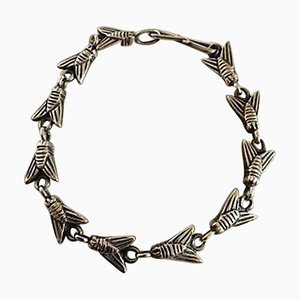 Sterling Silver Bracelet with Fly Links from Hans Hansen