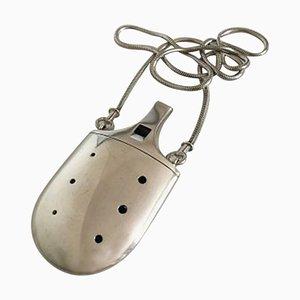 Whistle in argento con catena di Hans Hansen