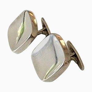 Sterling Silber # 10 Manschettenknöpfe von Bent Knudsen