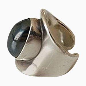 Sterling Silber # 4 Ring mit Hämatit von Bent Knudsen