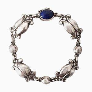 Sterling Silberarmband mit Lapis Lazuli No 11 von Georg Jensen