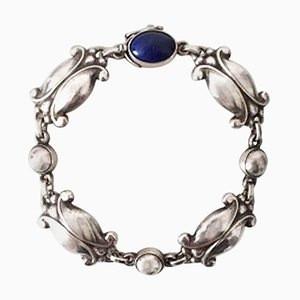 Sterling Silver Bracelet with Lapis Lazuli No 11 from Georg Jensen