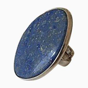 Silberner Sterling # 204 Ring mit blauem Stein von Bent Knudsen