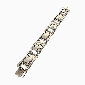 Sterling Silver No. 42 Bracelet with Swans from Georg Jensen
