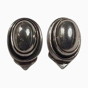 Boucles d'Oreilles Clip No. 86b en Argent Sterling de Georg Jensen