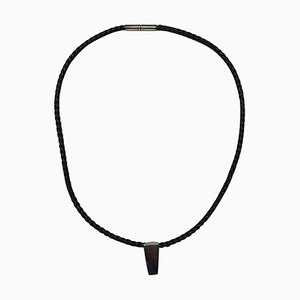 Leather Cord with Sterling Silver No 423 Victory Pendant from Georg Jensen