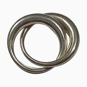 Sterling Silver Double No 447 Luna Ring Georg Jensen