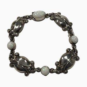 Sterling Silver No 11 Opal Measures Bracelet from Georg Jensen