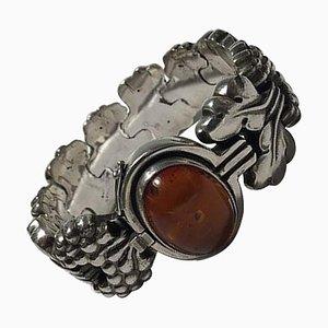 Sterling Silber Armband No 30 Amber von Georg Jensen, Paris