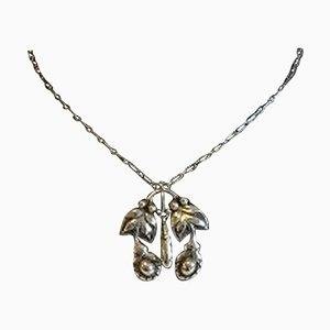 Silberne 830 Jugend No 26 Halskette mit Silber Steinen von Georg Jensen