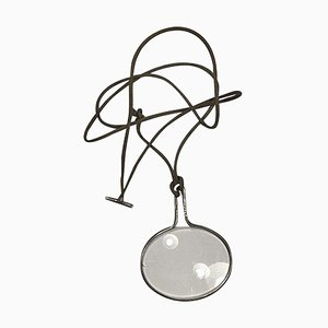 String with Sterling Silver No 400 Pendant with Magnifying Glass Torun from Georg Jensen