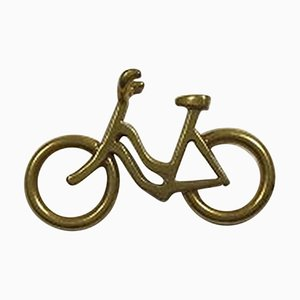Gilt Brass Womans Bicycle Pendant from Georg Jensen