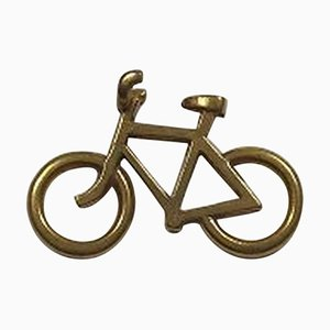 Gilt Brass Mens Bicycle Pendant No 5215 from Georg Jensen