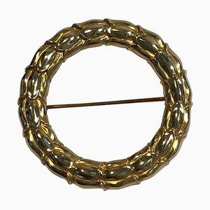 18 Karat Gold Brooch No. 360 by Sigvard Bernadotte for Georg Jensen