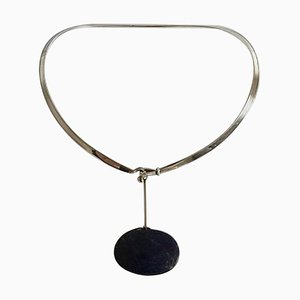 Sterling Silver Torun Neck Ring No 168 with Pendant No 133 from Georg Jensen