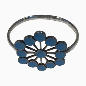 Sterling Silver Arm Ring with Enamel No 238 from Georg Jensen