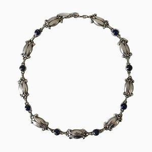 Sterling Silber Halskette mit Lapislazuli Nr. 15 von Georg Jensen