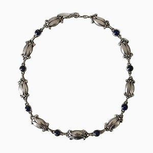 Sterling Silver Necklace with Lapis Lazuli No 15 from Georg Jensen