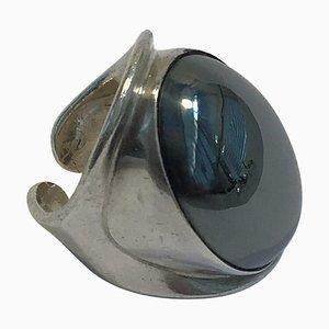 Sterling Silber Ring mit Hämatit Nr. 19 von Bent Knudsen