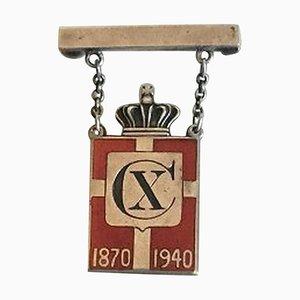 Broche Kingsmark de plata esterlina de Georg Jensen, 1870-1940