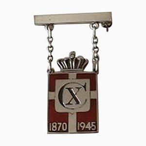 Pin Kingsmark en Argent Sterling de Georg Jensen, 1870-1945