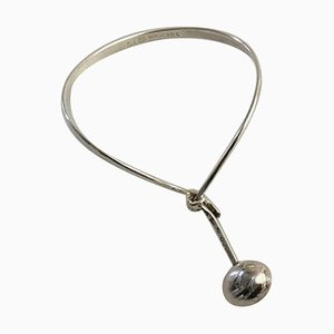 Sterling Silver Torun Armring No 205 with Pendant No 303 from Georg Jensen