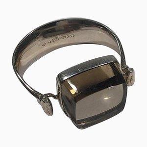 Sterling Silver Rutile Quartz Arm Ring for Georg Jensen