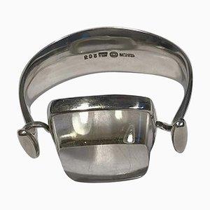 Brazalete nº 203 de plata esterlina con cuarzo rutilado Rutile de Georg Jensen