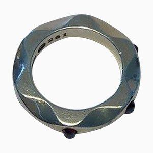 Sterling Silber Spiegel Ring mit 261 Amethyst von Georg Jensen