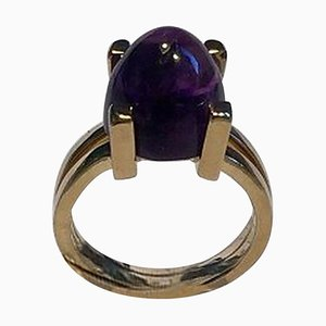 18 Carat Gold Ring with Amethyst from Georg Jensen