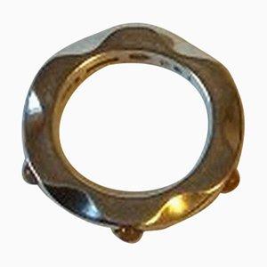 Sterling Silber Ring Nr. 261 mit orangefarbenem Mondstein von Georg Jensen