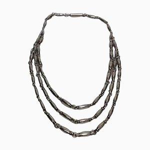 Sterling Silver Necklace 3 Reihen Nr. 40. von Henry Pilstrup für Georg Jensen