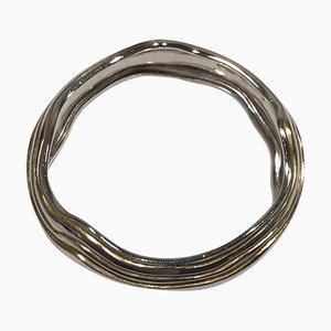 Sterling Silber Armreif oder Bangle No 348A von Georg Jensen