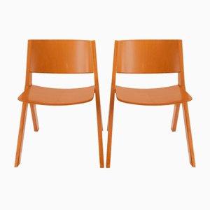Holzstühle von Mauro Pasquinelli für Misura Emme, 1979, 2er Set