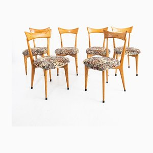 Chairs in the Style of Ico Parisi, Set of 6