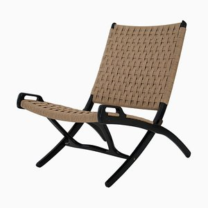 Italian Mid-Century Modern Folding Chair in the Style of Gio Ponti, 1950