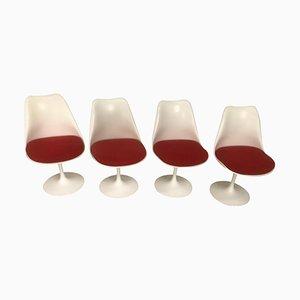 Esszimmerstühle von Eero Saarinen für Tulip & Knoll, 4er Set