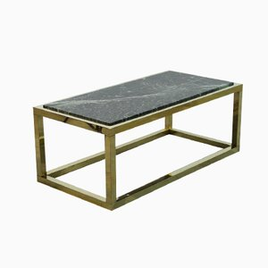 Spanish Vintage Marble & Brass Coffee Table, 1970s