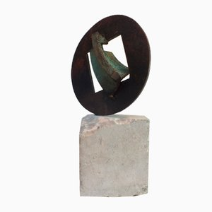 Glockenstein, Bronzeguss Skulptur, 2018