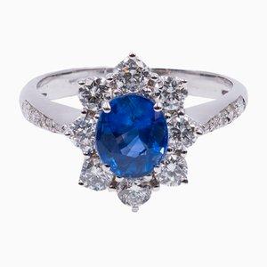 Ring in Weißgold & mit Diamanten