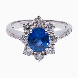 White Gold & Diamond Daisy Ring