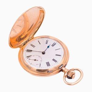 Reloj de bolsillo dorado, siglo XIX